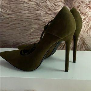 Olive green heels